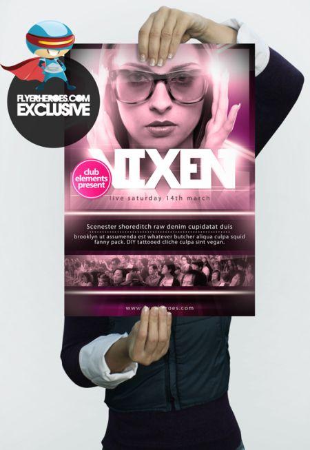 01_Vixen-A3-Poster-Template