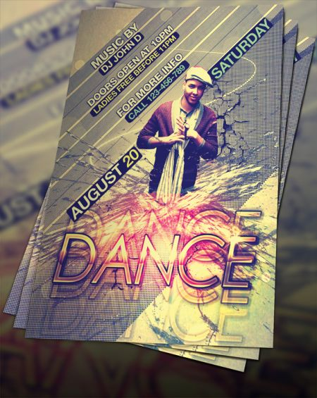 04_Free PSD Dance-Flyer