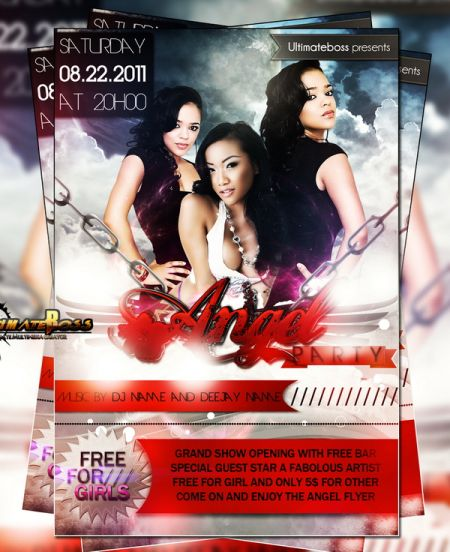 05_Free PSD--Angel-Party-Flyer