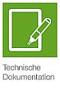 Coverbild zur Technischen Doku - DINA4 Blatt mit Schreibstift